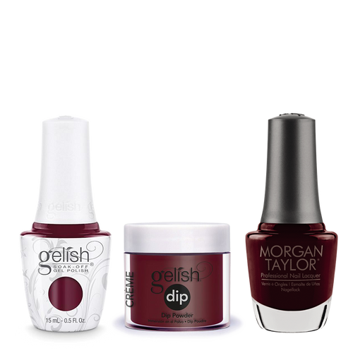 Gelish 3in1 Dipping Powder + Gel Polish + Nail Lacquer, 0.8oz, A Touch Of Sass