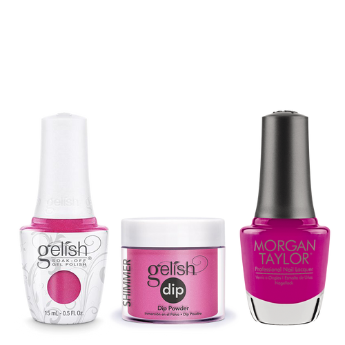 Gelish 3in1 Dipping Powder + Gel Polish + Nail Lacquer, 0.8oz, Amour Colour Please