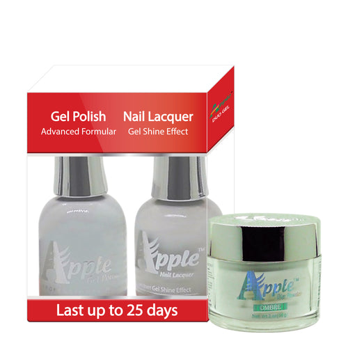Apple 3in1 Dipping Powder + Gel Polish + Nail Lacquer, 202, Soft White, 2oz