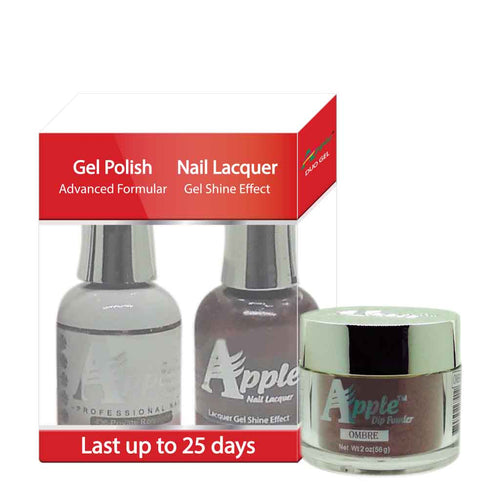 Apple 3in1 Dipping Powder + Gel Polish + Nail Lacquer, 438, Private Romance, 2oz
