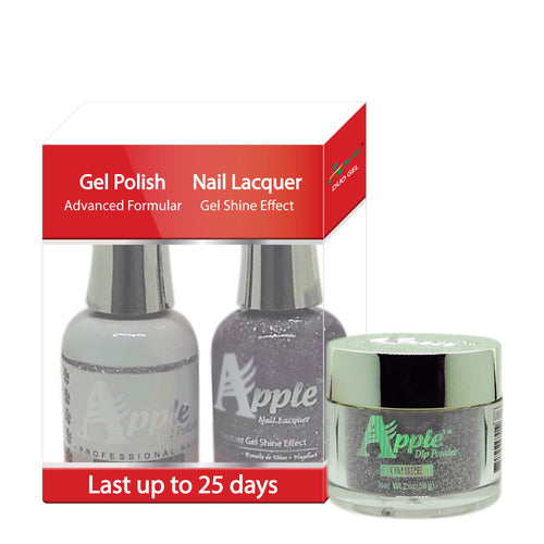 Apple 3in1 Dipping Powder + Gel Polish + Nail Lacquer, 457, Lave Flamingo, 2oz