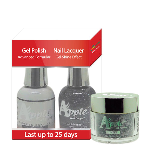 Apple 3in1 Dipping Powder + Gel Polish + Nail Lacquer, 463, Purple Jet, 2oz