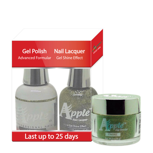 Apple 3in1 Dipping Powder + Gel Polish + Nail Lacquer, 484, A Mile Stone, 2oz