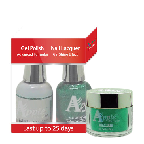 Apple 3in1 Dipping Powder + Gel Polish + Nail Lacquer, 495, Crystal Ball, 2oz