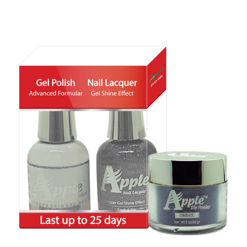 Apple 3in1 Dipping Powder + Gel Polish + Nail Lacquer, 502, Mickie Crowd, 2oz