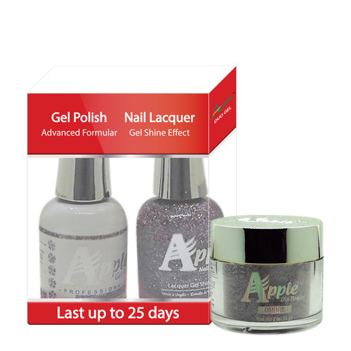 Apple 3in1 Dipping Powder + Gel Polish + Nail Lacquer, 542, Marquize Spot, 2oz
