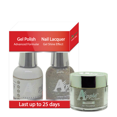 Apple 3in1 Dipping Powder + Gel Polish + Nail Lacquer, 547, Struck A Scene, 2oz