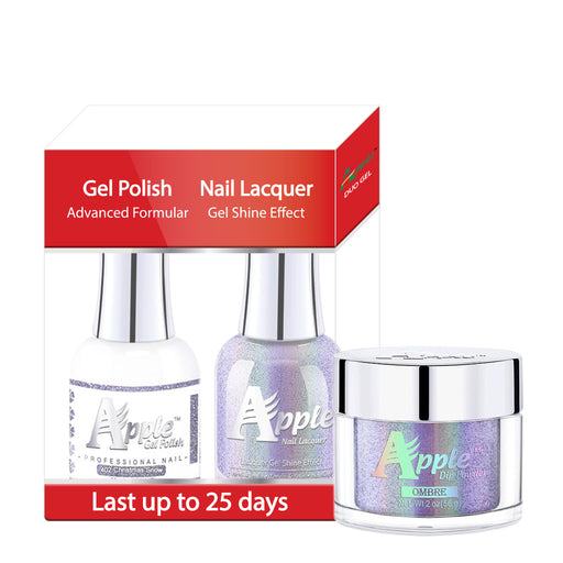 Apple 3in1 Dipping Powder + Gel Polish + Nail Lacquer, 5G Collection, 402, Christmas Snow KK0920