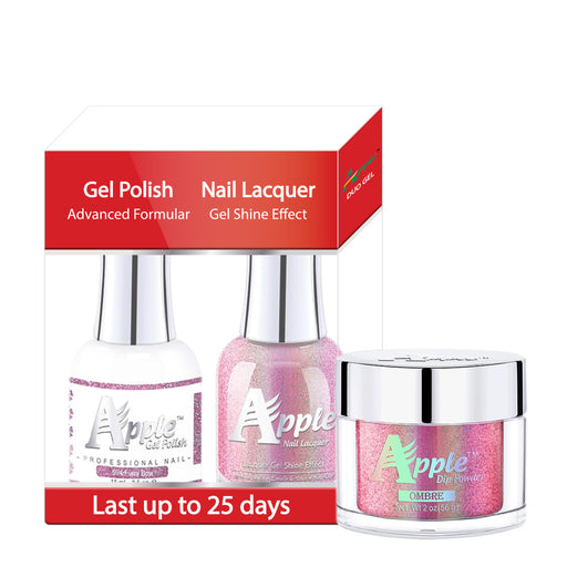 Apple 3in1 Dipping Powder + Gel Polish + Nail Lacquer, 5G Collection, 594, Furry Bow KK0920