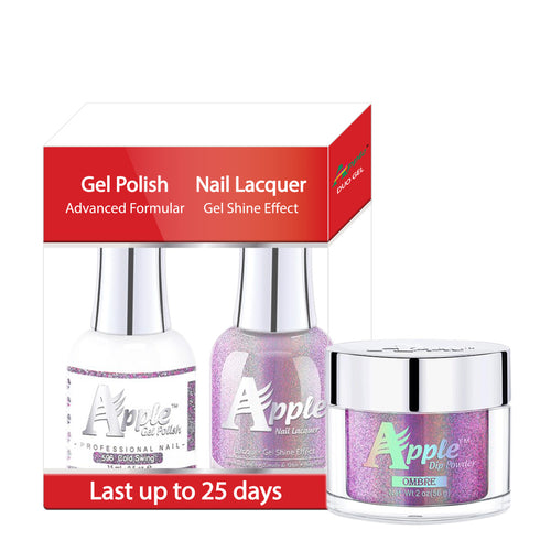 Apple 3in1 Dipping Powder + Gel Polish + Nail Lacquer, 5G Collection, 596, Cold Swing KK0920