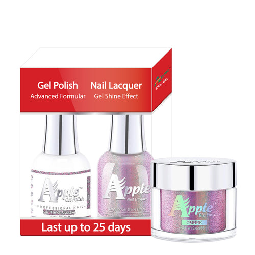 Apple 3in1 Dipping Powder + Gel Polish + Nail Lacquer, 5G Collection, 597, French Cupcake KK0920