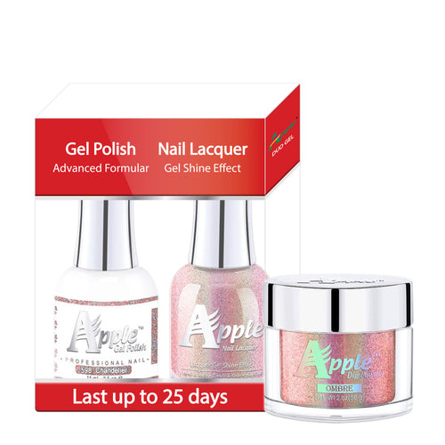 Apple 3in1 Dipping Powder + Gel Polish + Nail Lacquer, 5G Collection, 598, Chandelier KK0920