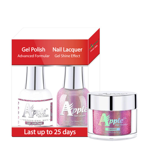 Apple 3in1 Dipping Powder + Gel Polish + Nail Lacquer, 5G Collection, 599, Love Seed KK0920