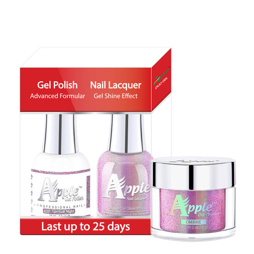 Apple 3in1 Dipping Powder + Gel Polish + Nail Lacquer, 5G Collection, 600, Spiritual Night KK0920