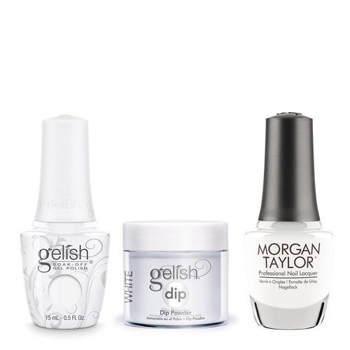 Gelish 3in1 Dipping Powder + Gel Polish + Nail Lacquer, Artic Freeze, 266G/876