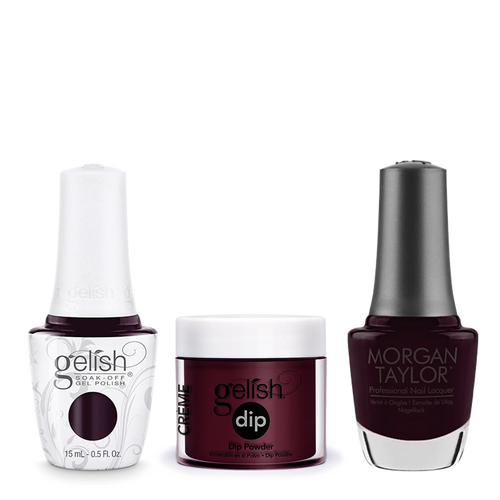 Gelish 3in1 Dipping Powder + Gel Polish + Nail Lacquer, Bella's Vampire, 828