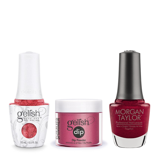 Gelish 3in1 Dipping Powder + Gel Polish + Nail Lacquer, Best Dressed, 033