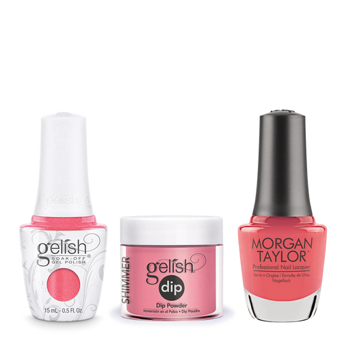 Gelish 3in1 Dipping Powder + Gel Polish + Nail Lacquer, Cancan We Dance, 176