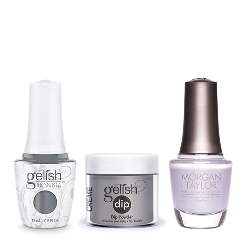 Gelish 3in1 Dipping Powder + Gel Polish + Nail Lacquer, Clean Slate, 939