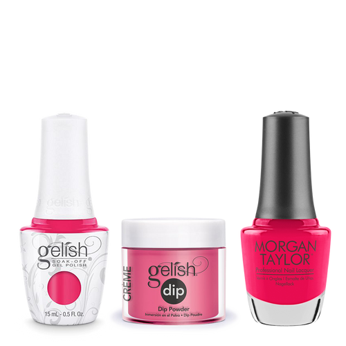 Gelish 3in1 Dipping Powder + Gel Polish + Nail Lacquer, Don't Pansy Around, 202
