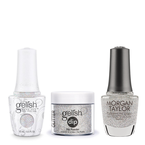 Gelish 3in1 Dipping Powder + Gel Polish + Nail Lacquer, 0.8oz, Fame Game