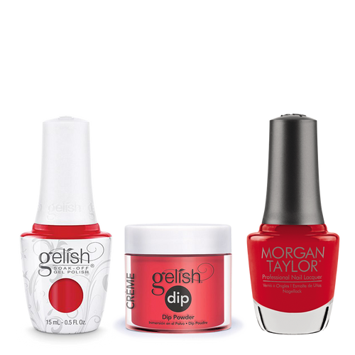 Gelish 3in1 Dipping Powder + Gel Polish + Nail Lacquer, Fire Cracker, 028