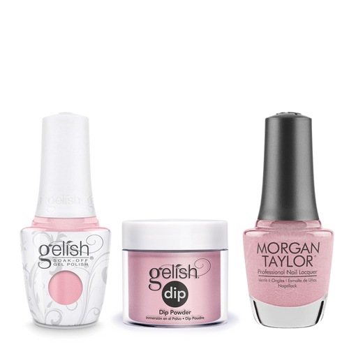Gelish 3in1 Dipping Powder + Gel Polish + Nail Lacquer, The Color Of Petals Collection, 344, Follow The Petals OK0115LK