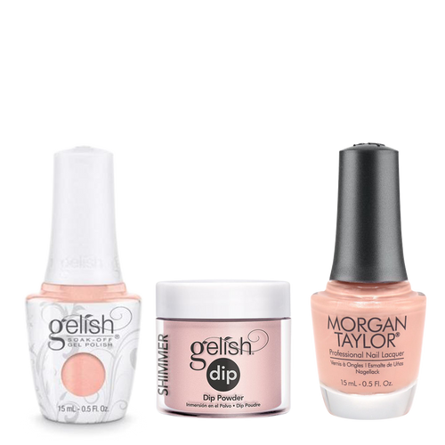 Gelish 3in1 Dipping Powder + Gel Polish + Nail Lacquer, Forever Beauty, 813