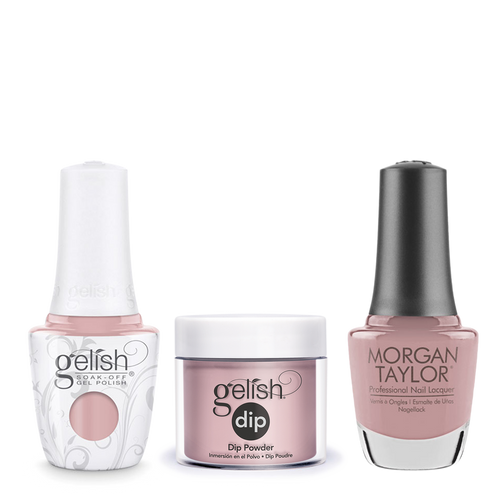 Gelish 3in1 Dipping Powder + Gel Polish + Nail Lacquer, The Color Of Petals Collection, 341, Gardenia My Heart OK0115LK