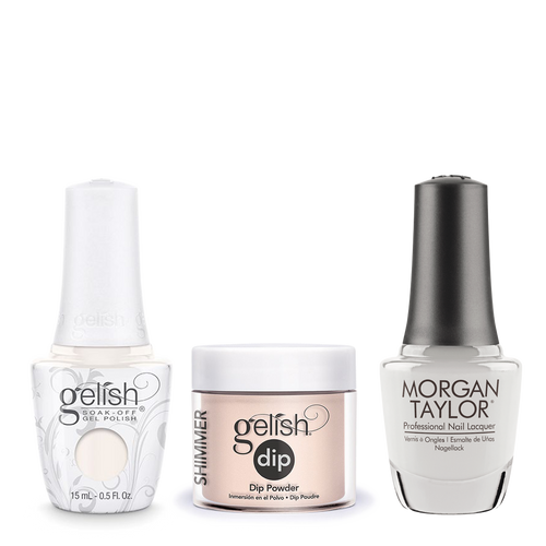 Gelish 3in1 Dipping Powder + Gel Polish + Nail Lacquer, 0.8oz, Heaven Sent
