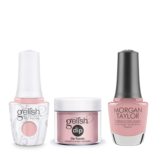 Gelish 3in1 Dipping Powder + Gel Polish + Nail Lacquer, The Color Of Petals Collection, 342, I Feel Flower-Full OK0115LK
