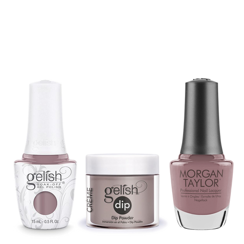 Gelish 3in1 Dipping Powder + Gel Polish + Nail Lacquer, 0.8oz, I Or-chid You Not