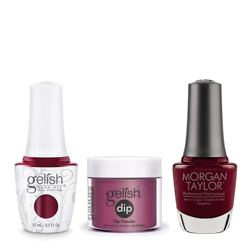 Gelish 3in1 Dipping Powder + Gel Polish + Nail Lacquer, 0.8oz, I'm So Hot
