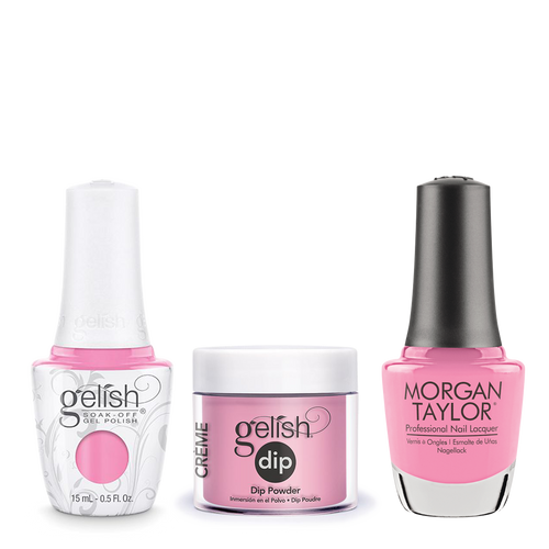 Gelish 3in1 Dipping Powder + Gel Polish + Nail Lacquer, 0.8oz, Look At You Pink-Achu