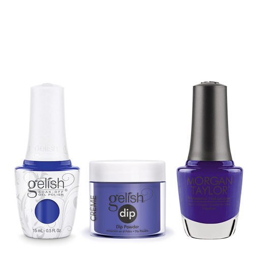 Gelish 3in1 Dipping Powder + Gel Polish + Nail Lacquer, 0.8oz, Making Waves