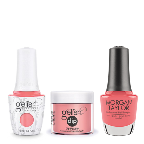 Gelish 3in1 Dipping Powder + Gel Polish + Nail Lacquer, 0.8oz, Manga Round With Me