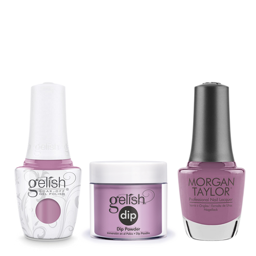 Gelish 3in1 Dipping Powder + Gel Polish + Nail Lacquer 1, The Color Of Petals Collection, 340, Merci Bouquet OK0115LK