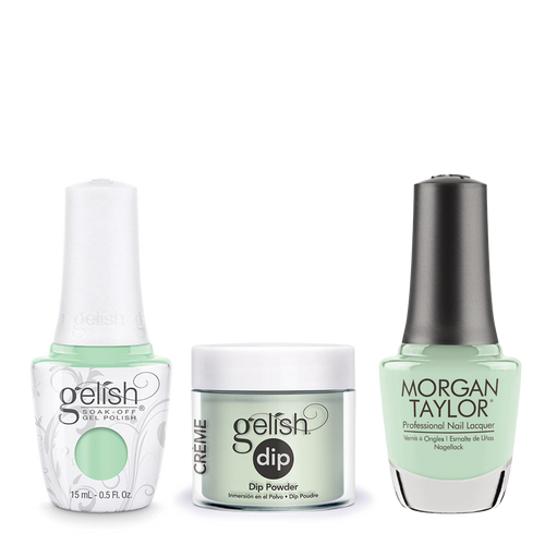 Gelish 3in1 Dipping Powder + Gel Polish + Nail Lacquer, 0.8oz, Mint Chocolate Chip
