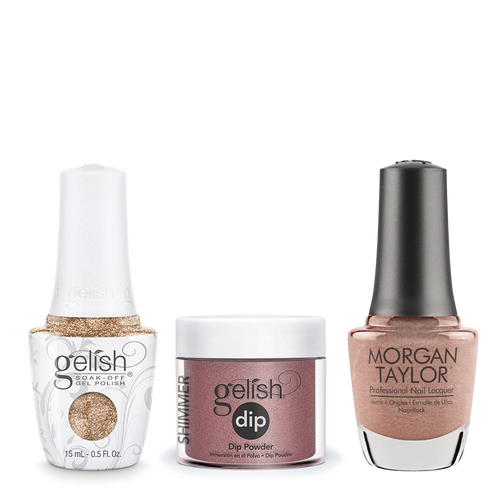 Gelish 3in1 Dipping Powder + Gel Polish + Nail Lacquer, 0.8oz, No Way Rose