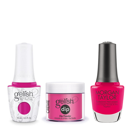 Gelish 3in1 Dipping Powder + Gel Polish + Nail Lacquer, 0.8oz, Pop-arazzi Pose