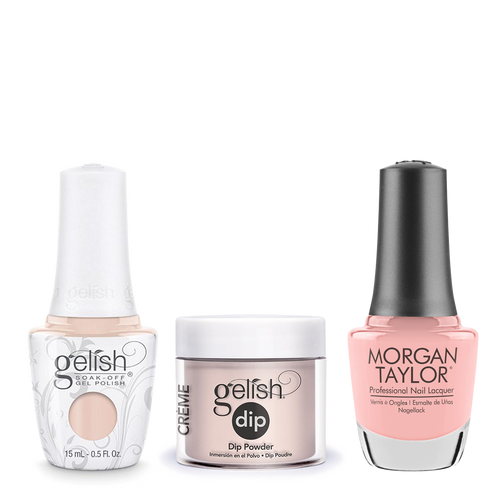 Gelish 3in1 Dipping Powder + Gel Polish + Nail Lacquer, 0.8oz, Prim Rose And Proper