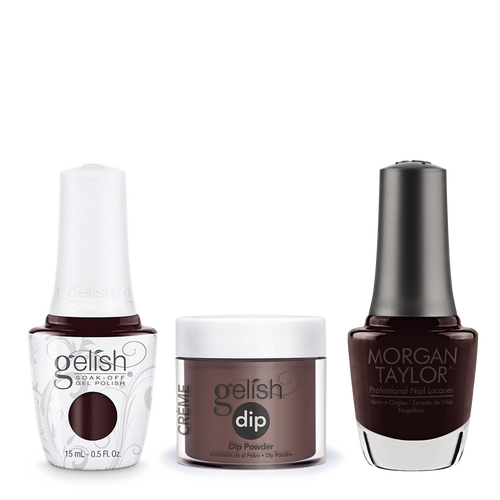 Gelish 3in1 Dipping Powder + Gel Polish + Nail Lacquer, 0.8oz, Pumps Or Cowboy Boots