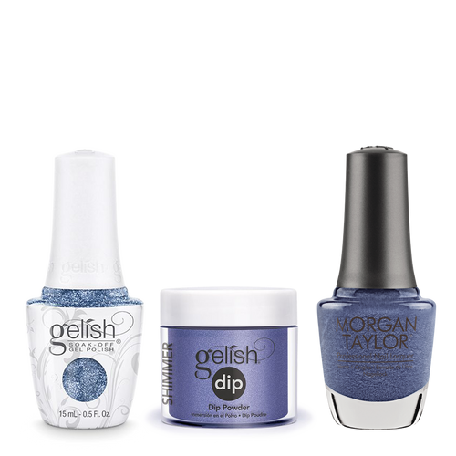Gelish 3in1 Dipping Powder + Gel Polish + Nail Lacquer, 0.8oz, Rhythm and Blues