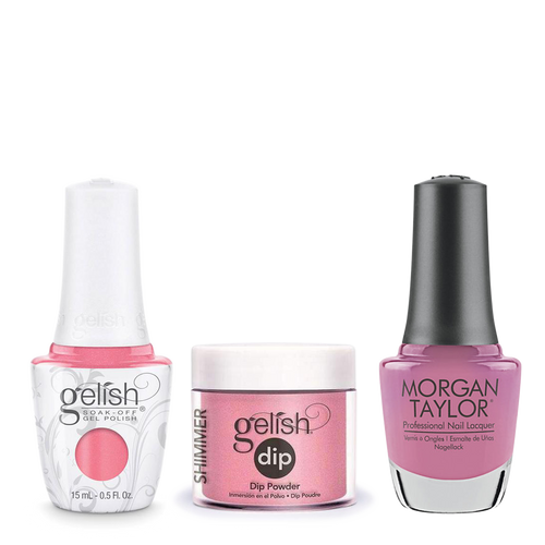 Gelish 3in1 Dipping Powder + Gel Polish + Nail Lacquer, 0.8oz, Rose-y Cheeks
