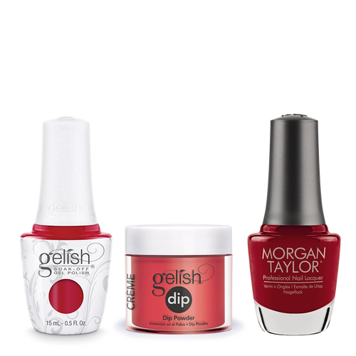 Gelish 3in1 Dipping Powder + Gel Polish + Nail Lacquer, 0.8oz, Scandalous