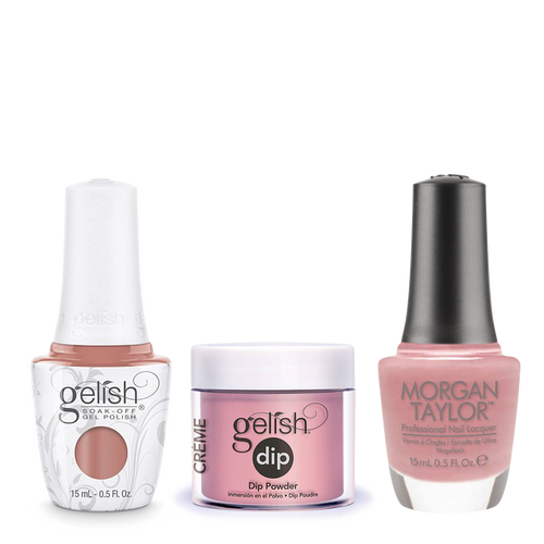 Gelish 3in1 Dipping Powder + Gel Polish + Nail Lacquer, She's My Beauty, 928