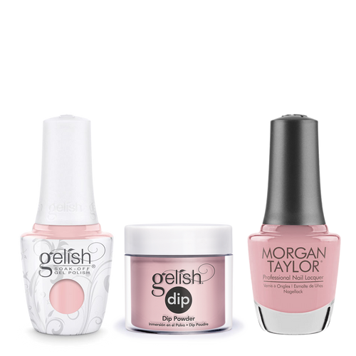 Gelish 3in1 Dipping Powder + Gel Polish + Nail Lacquer, The Color Of Petals Collection, 345, Strike A Posie OK0115LK
