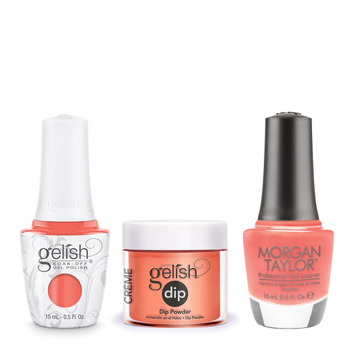 Gelish 3in1 Dipping Powder + Gel Polish + Nail Lacquer, 0.8oz,  Sweet Morning Dew