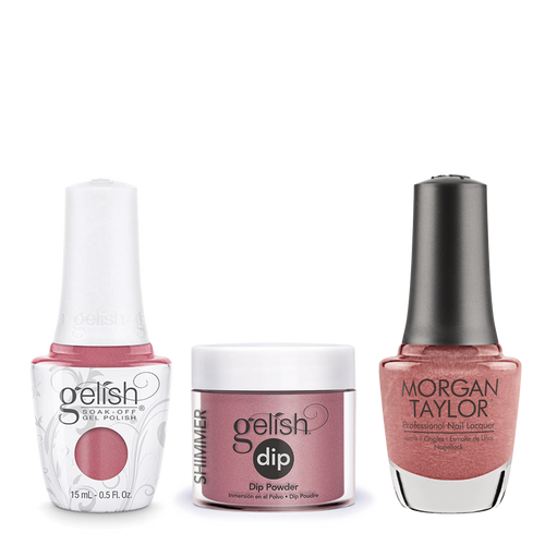 Gelish 3in1 Dipping Powder + Gel Polish + Nail Lacquer, 0.8oz, Tex'as Me Later
