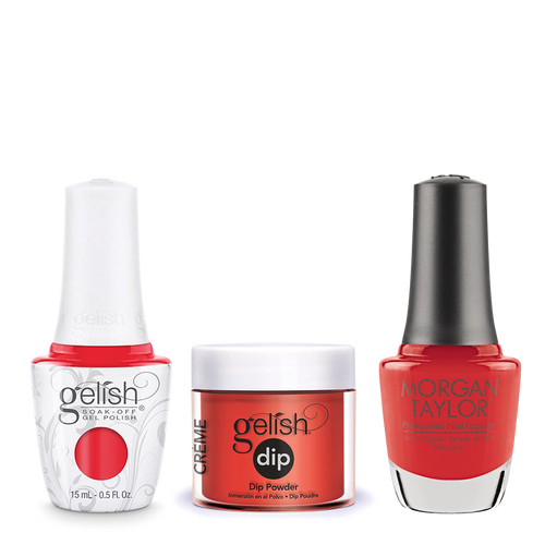 Gelish 3in1 Dipping Powder + Gel Polish + Nail Lacquer, 0.8oz, Tiger Blossom